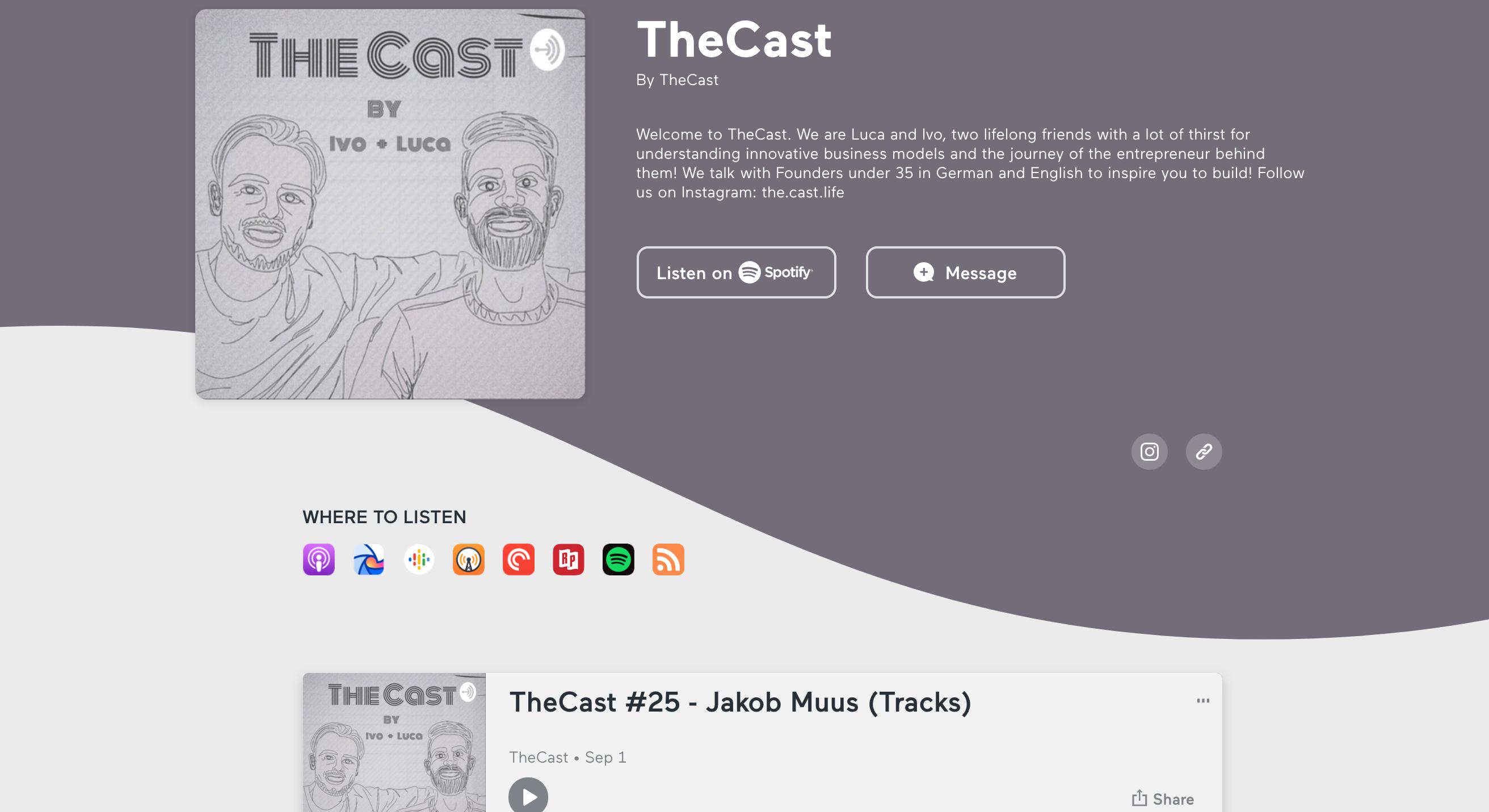 Jakob Muus interview on The Cast - Episode #25